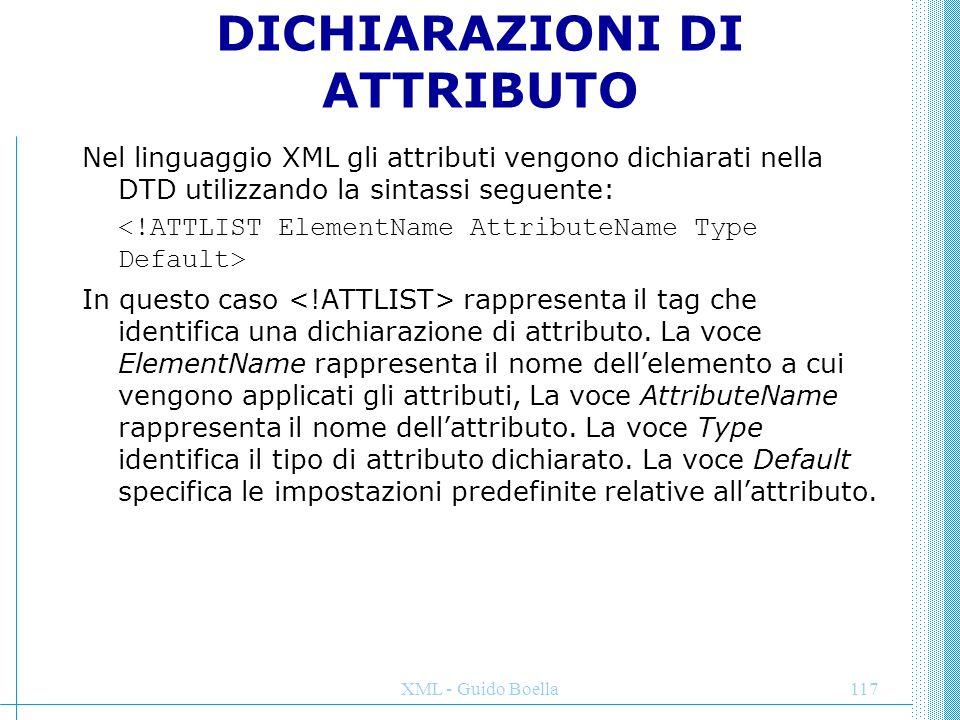 DICHIARAZIONI DI ATTRIBUTO