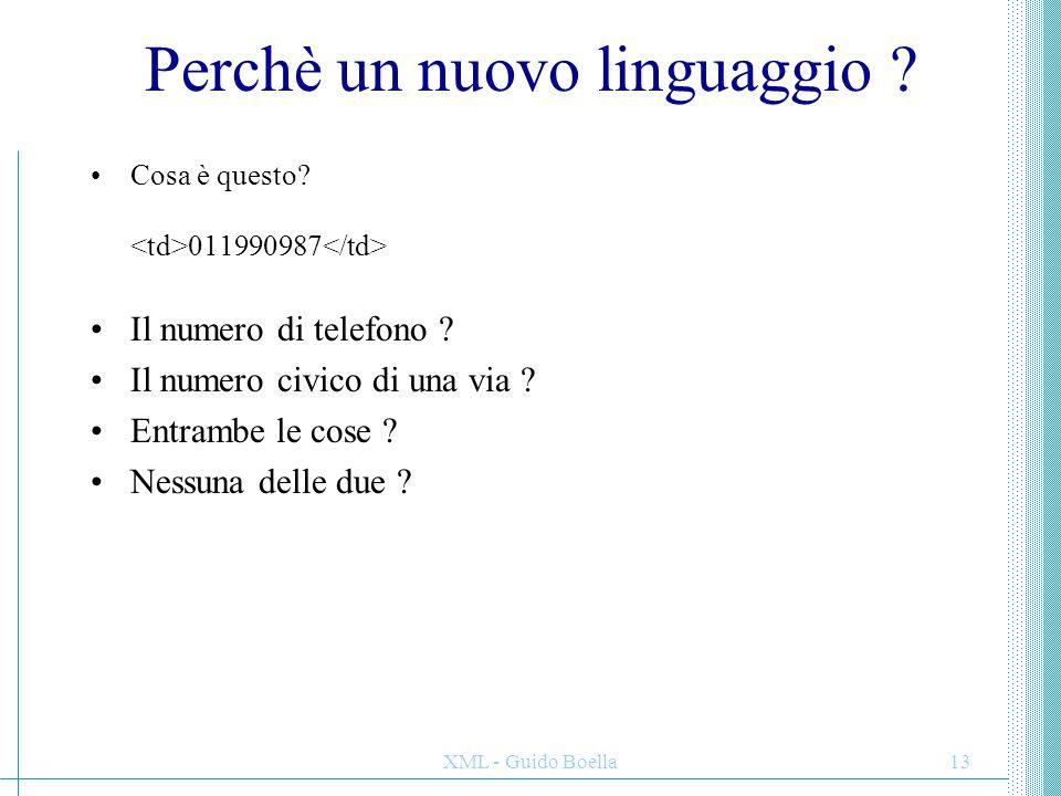 Perchè un nuovo linguaggio