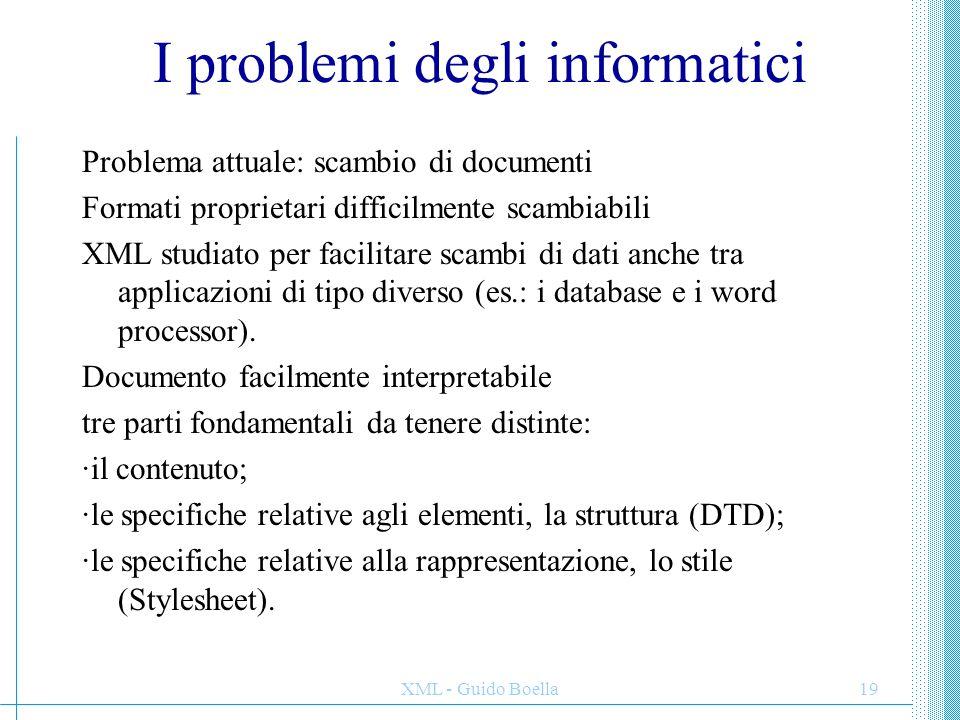 I problemi degli informatici