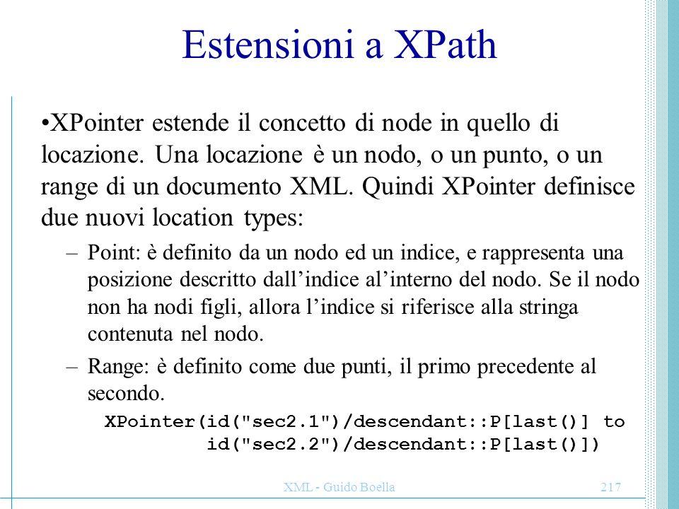 Estensioni a XPath