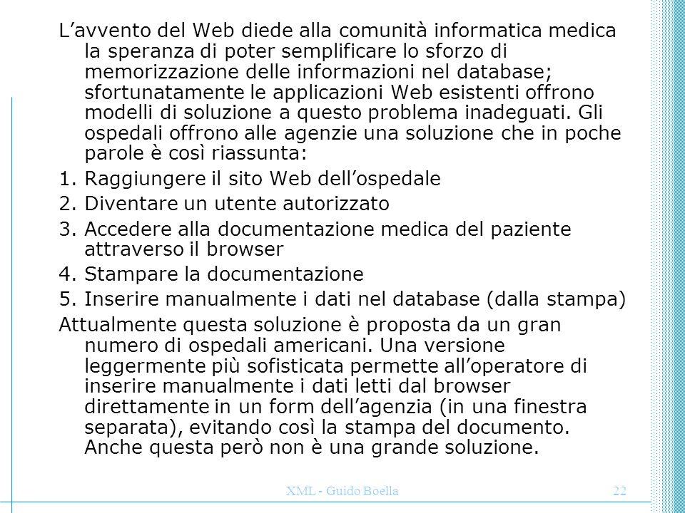 Raggiungere il sito Web dell'ospedale Diventare un utente autorizzato