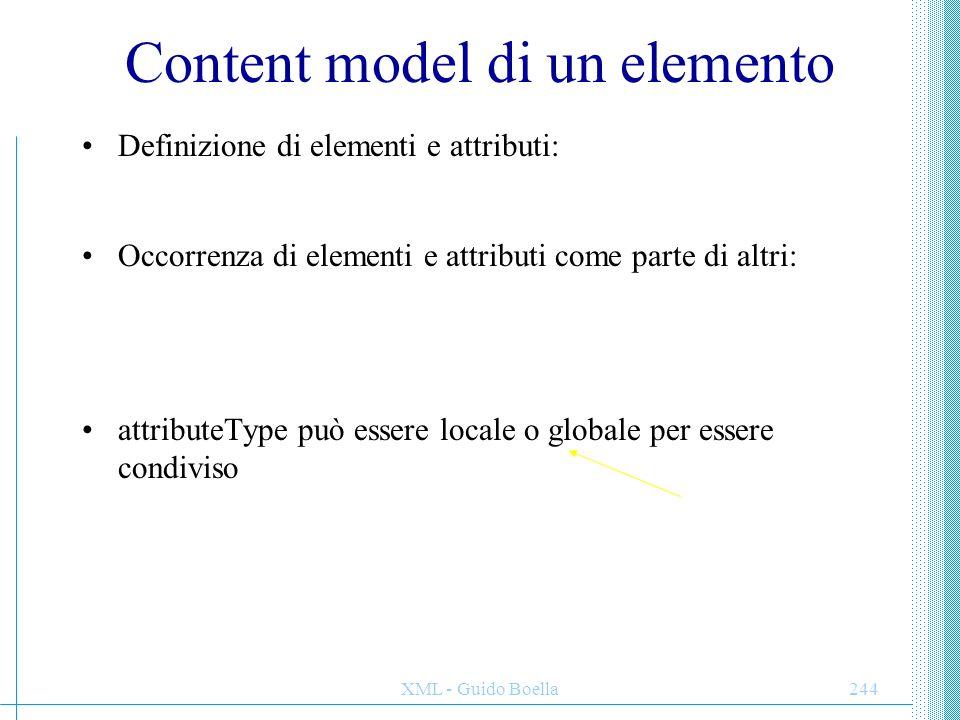 Content model di un elemento
