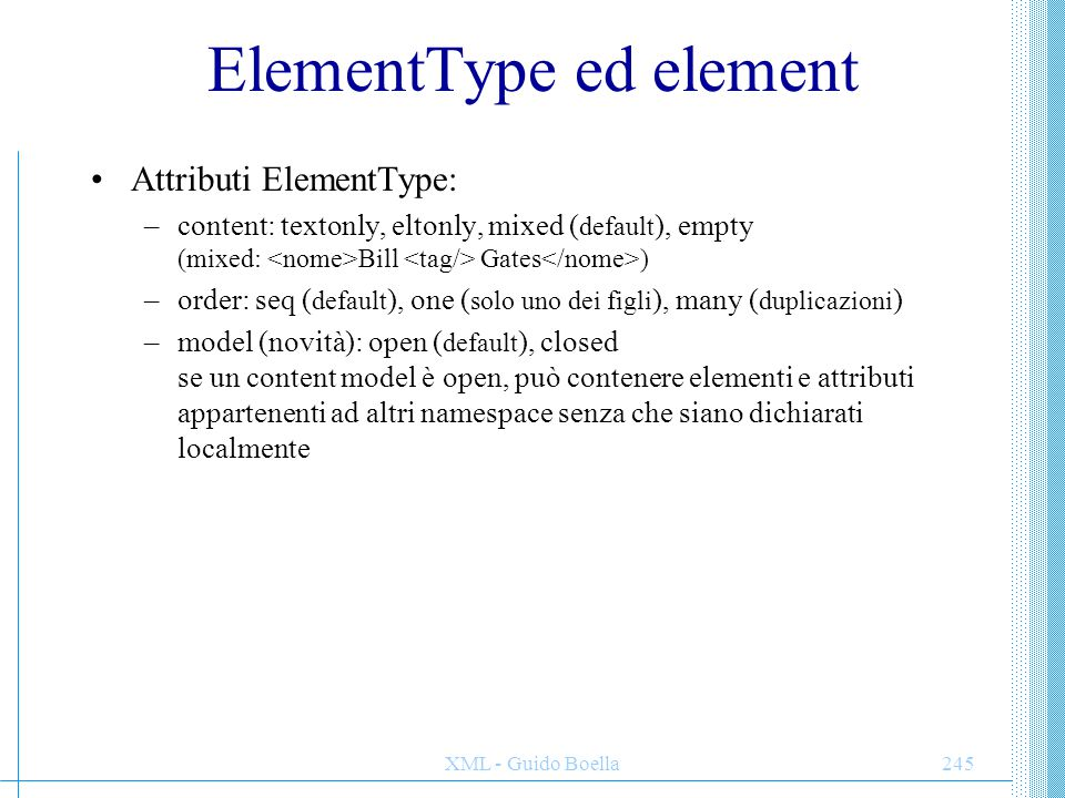 ElementType ed element