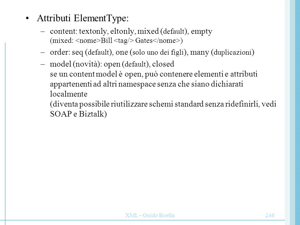 Attributi ElementType: