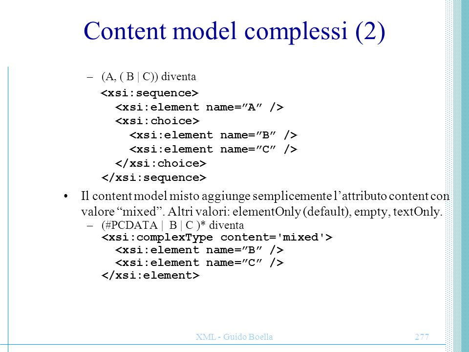 Content model complessi (2)