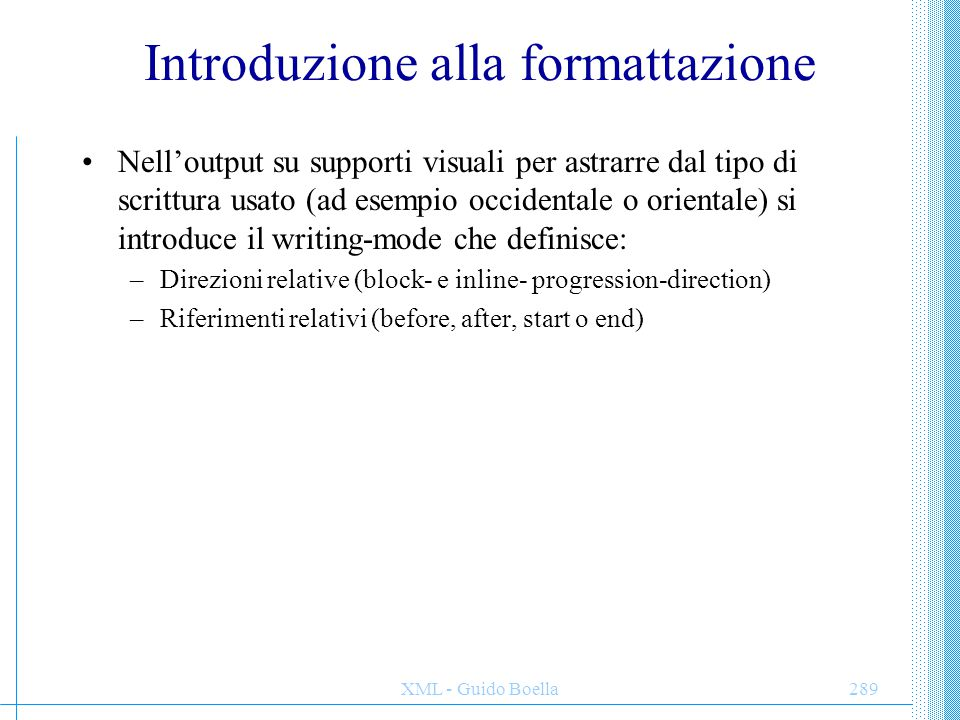 Introduzione alla formattazione