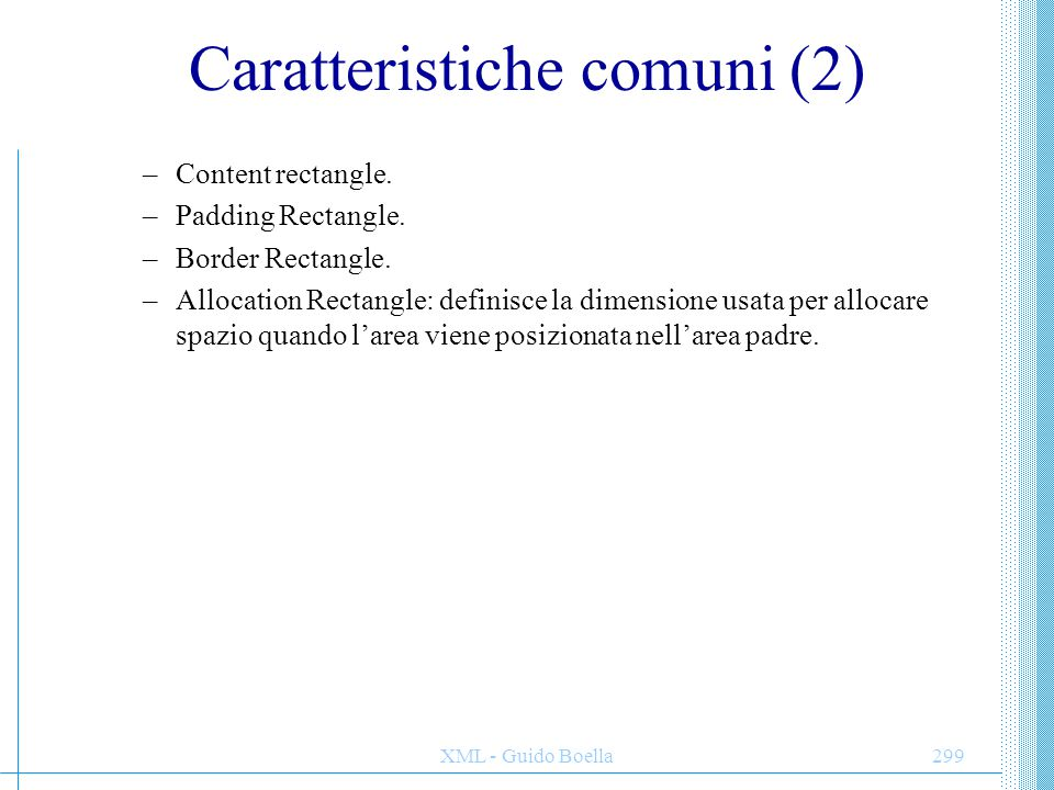 Caratteristiche comuni (2)