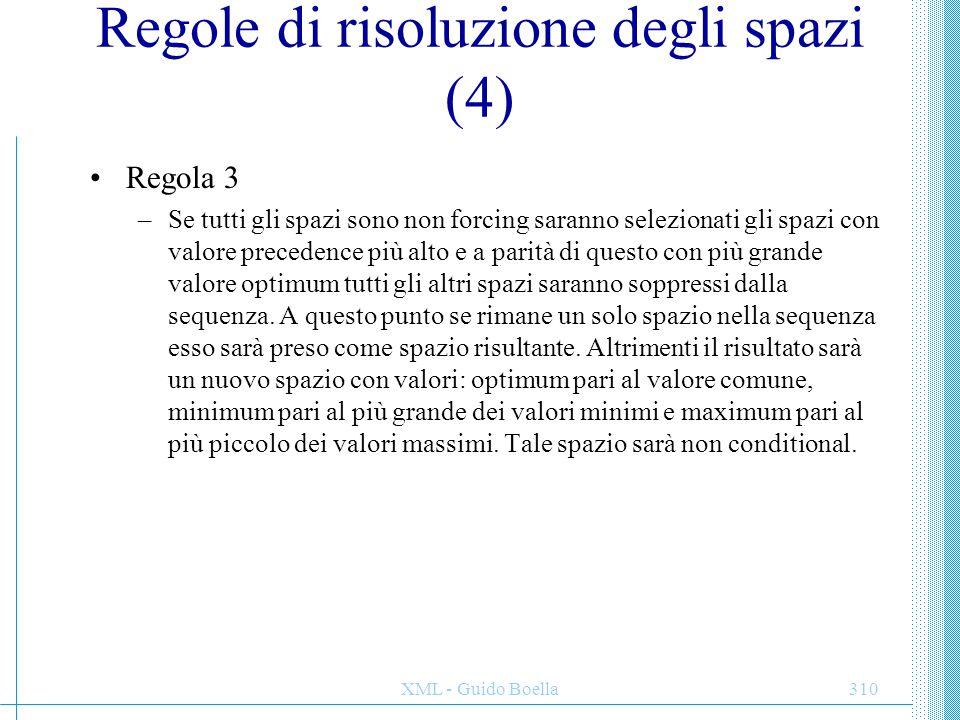 Regole di risoluzione degli spazi (4)