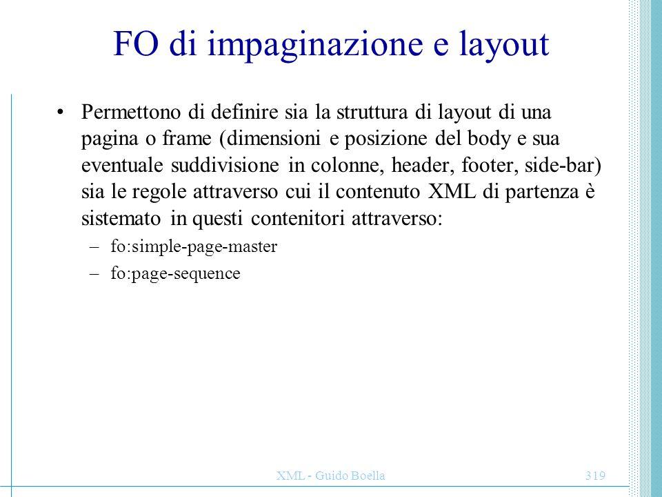 FO di impaginazione e layout