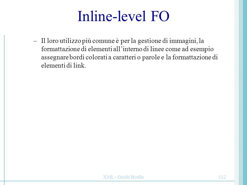 Inline-level FO