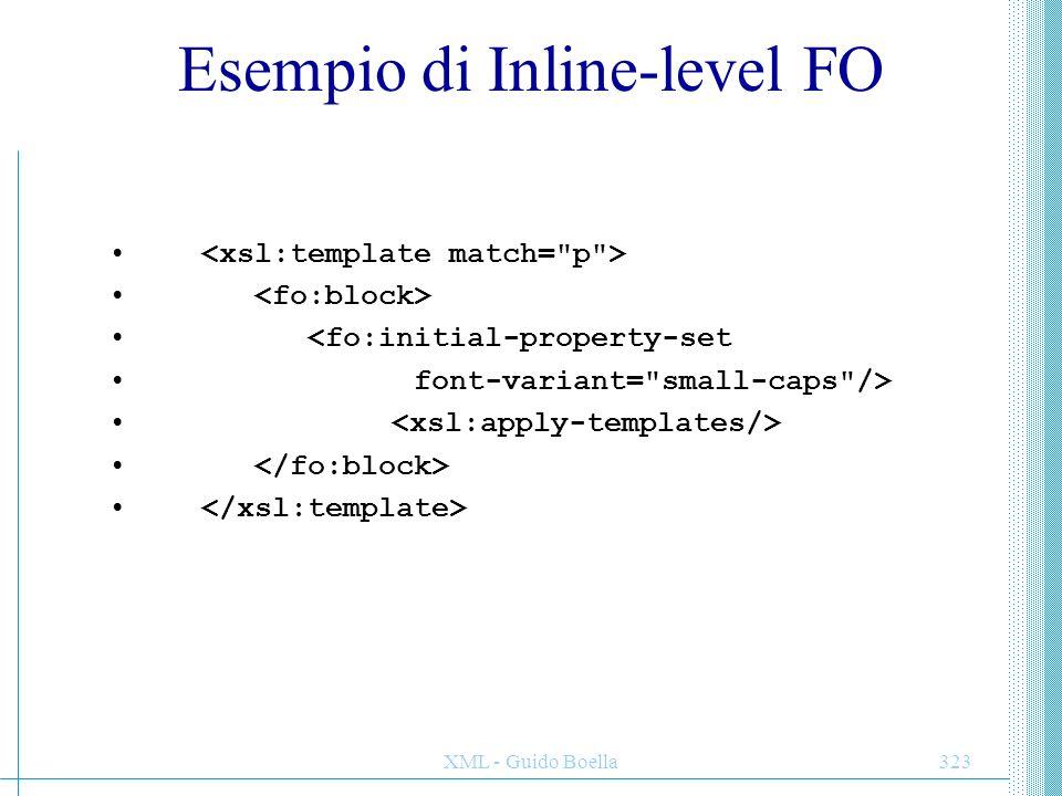 Esempio di Inline-level FO