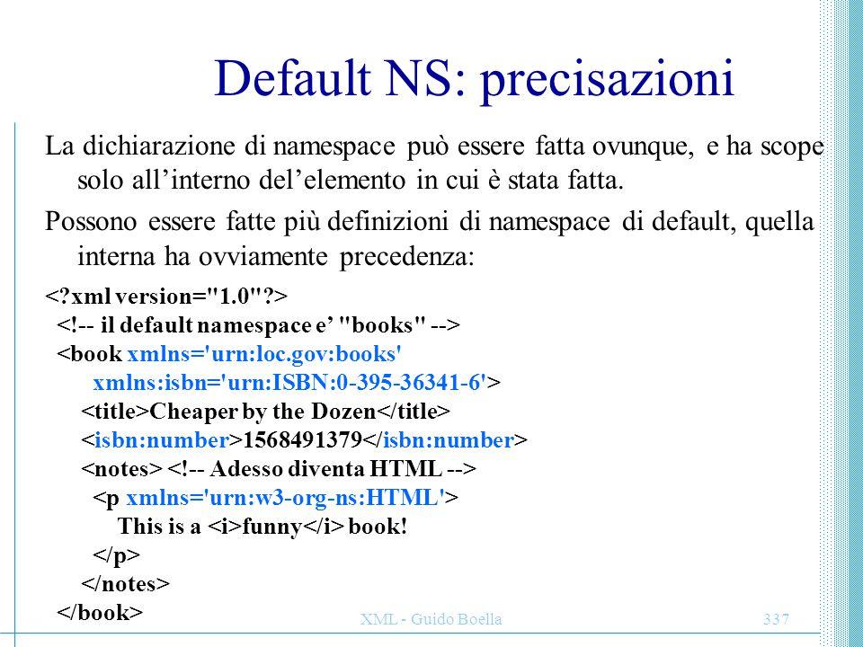 Default NS: precisazioni