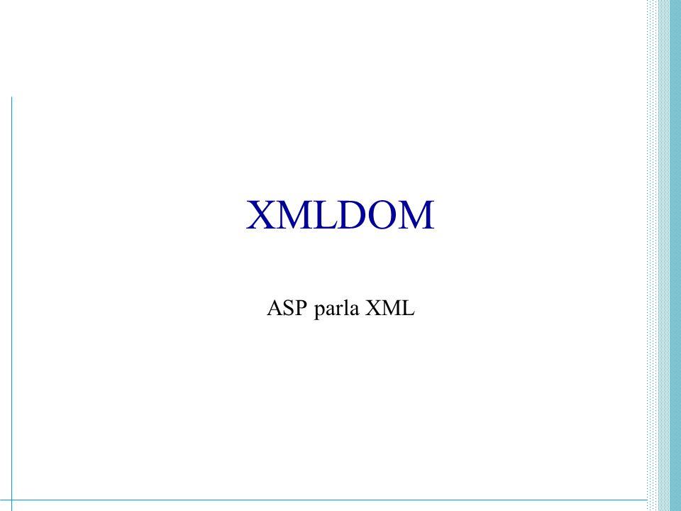 XMLDOM ASP parla XML