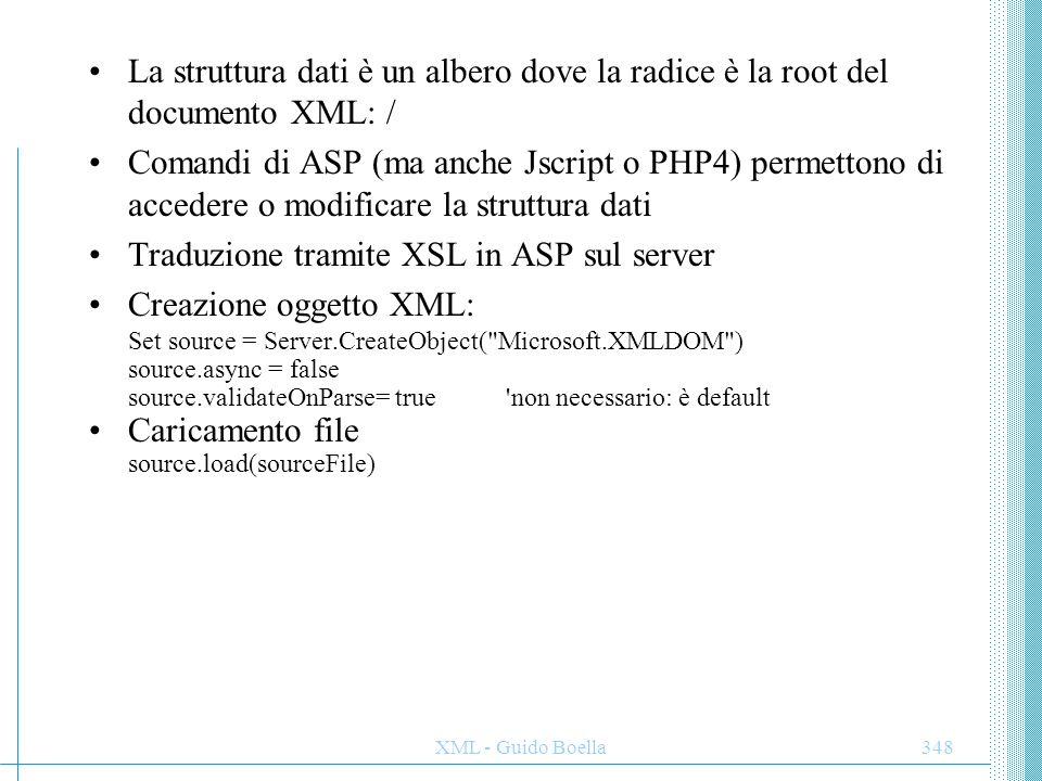 Traduzione tramite XSL in ASP sul server