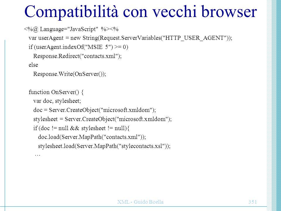 Compatibilità con vecchi browser