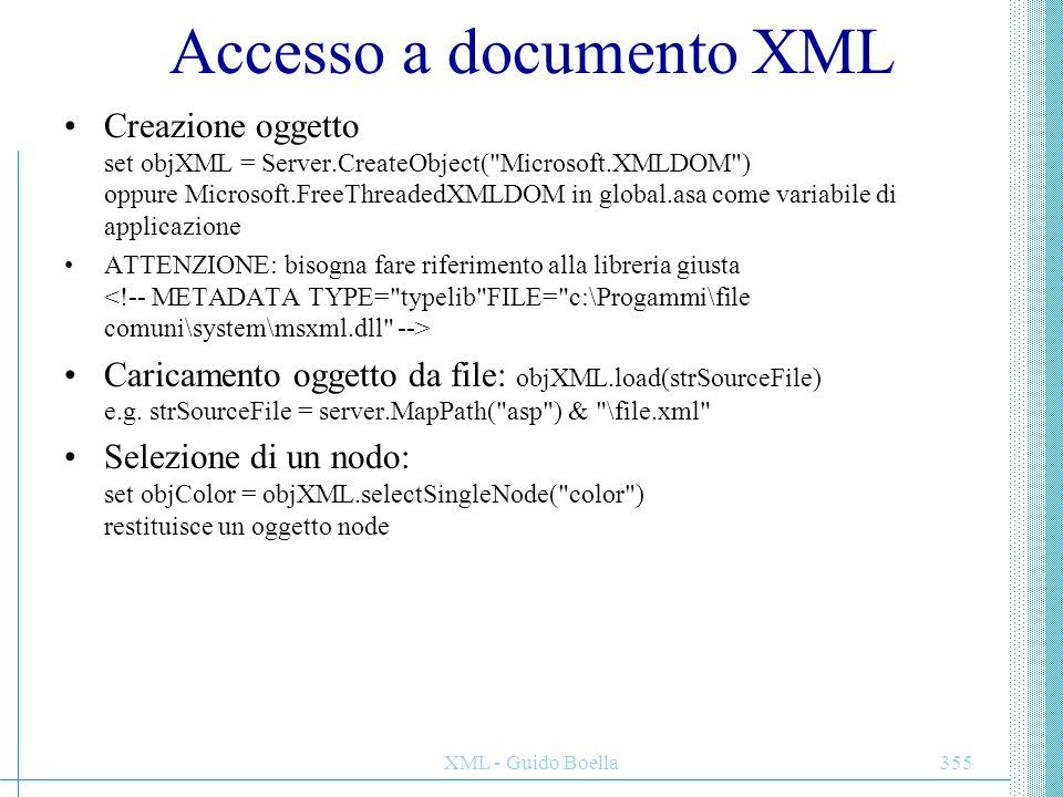 Accesso a documento XML