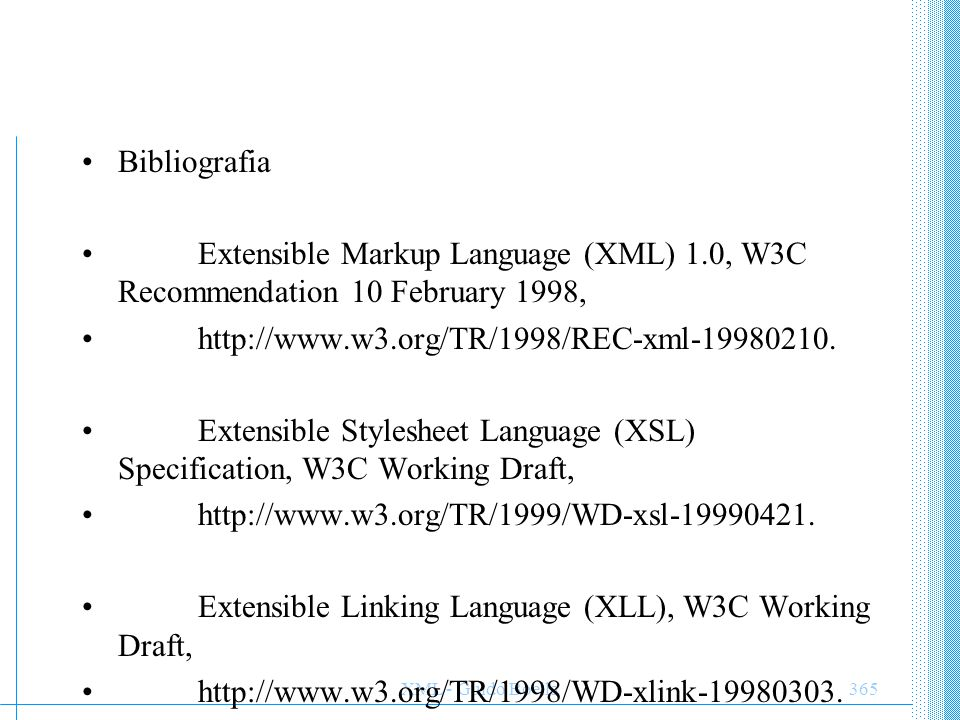 Extensible Stylesheet Language (XSL) Specification, W3C Working Draft,