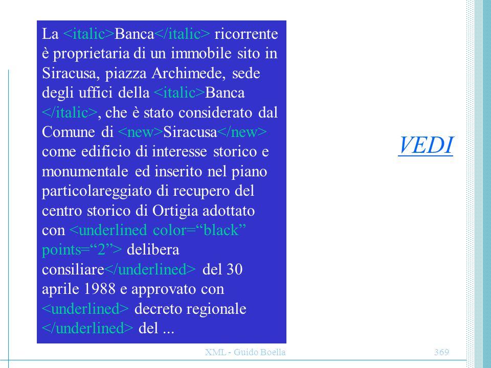 La <italic>Banca</italic> ricorrente è proprietaria di un immobile sito in Siracusa, piazza Archimede, sede degli uffici della <italic>Banca </italic>, che è stato considerato dal Comune di <new>Siracusa</new> come edificio di interesse storico e monumentale ed inserito nel piano particolareggiato di recupero del centro storico di Ortigia adottato con <underlined color= black points= 2 > delibera consiliare</underlined> del 30 aprile 1988 e approvato con <underlined> decreto regionale </underlined> del ...