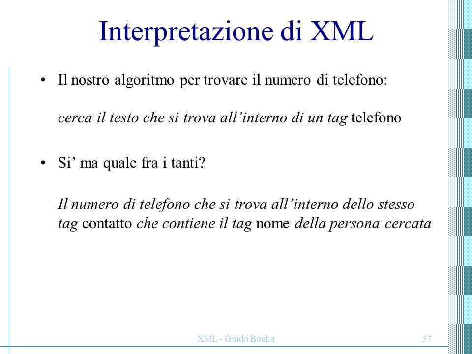 Interpretazione di XML