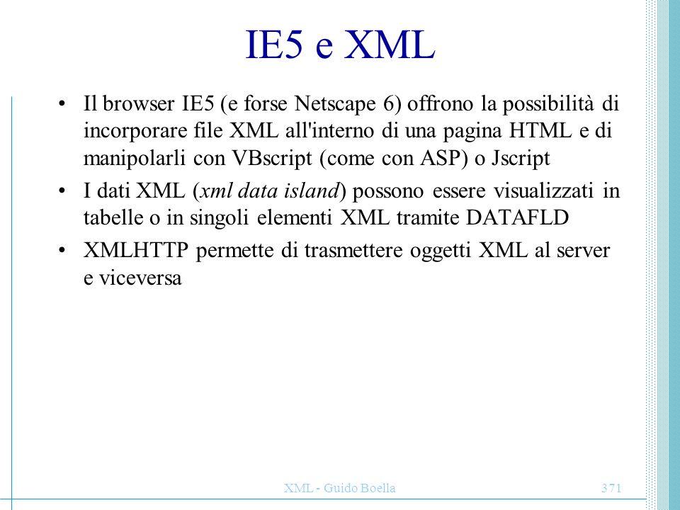 IE5 e XML