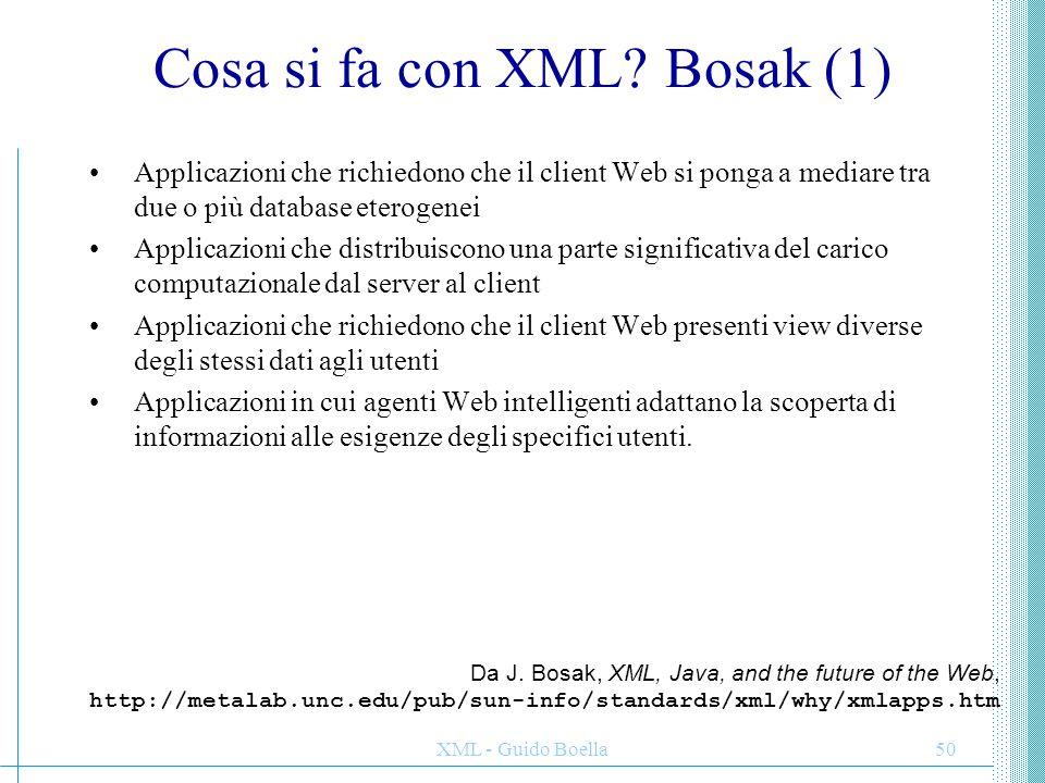 Cosa si fa con XML Bosak (1)