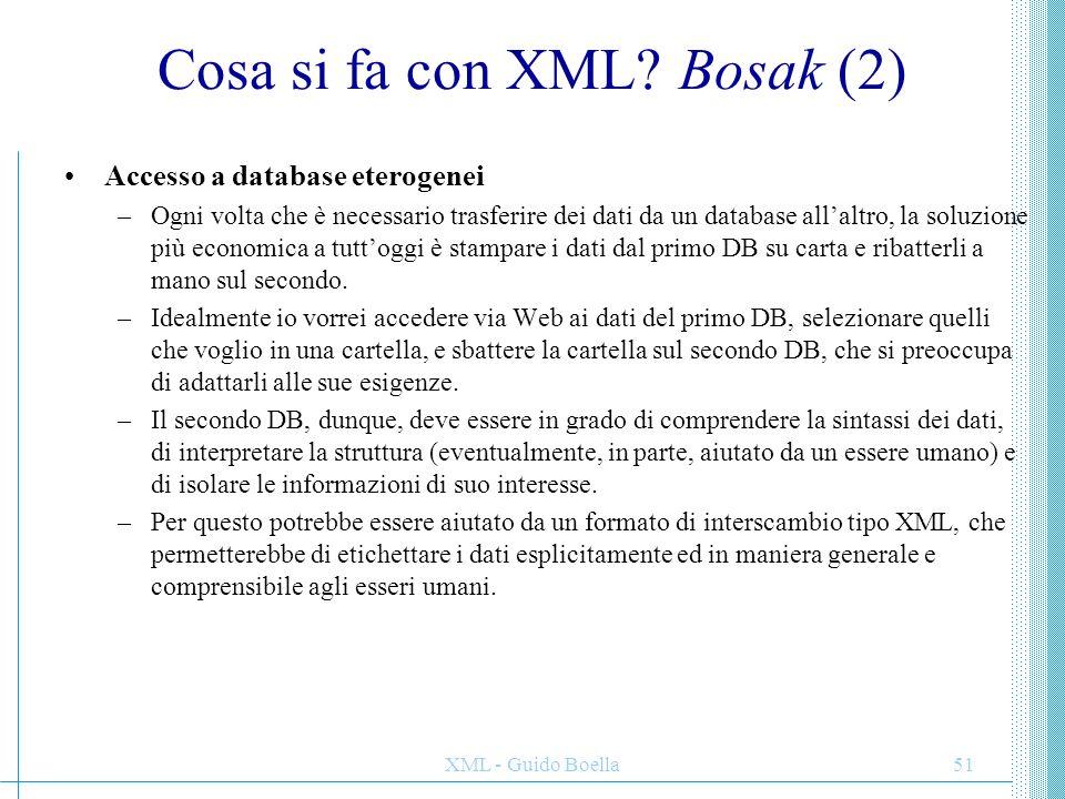 Cosa si fa con XML Bosak (2)