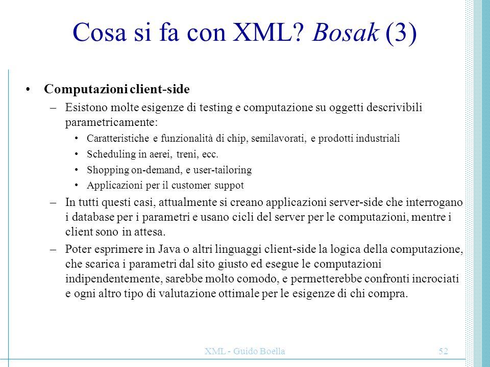 Cosa si fa con XML Bosak (3)