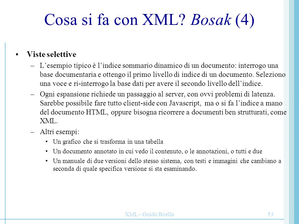 Cosa si fa con XML Bosak (4)