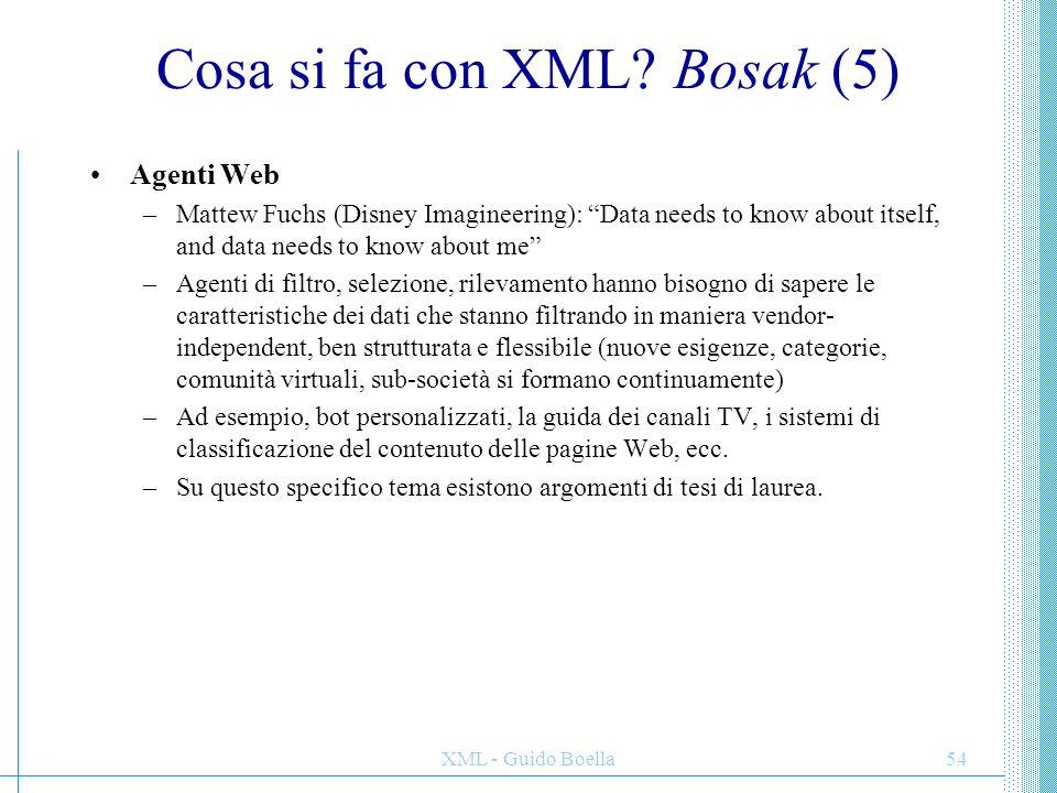 Cosa si fa con XML Bosak (5)