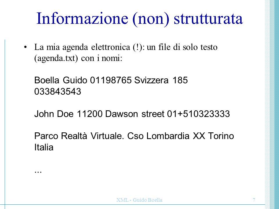 Informazione (non) strutturata