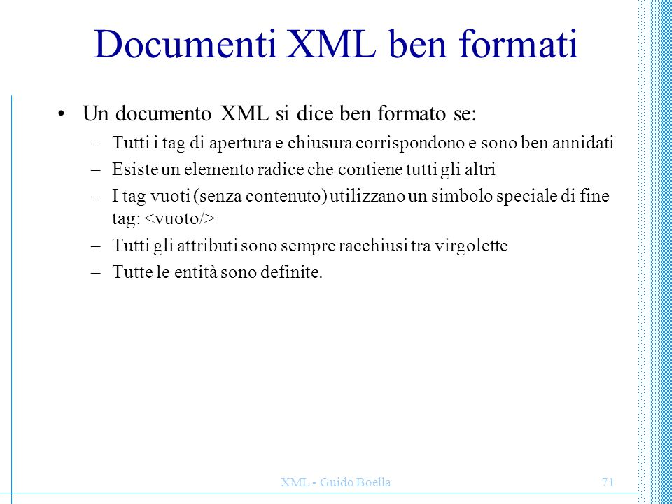 Documenti XML ben formati