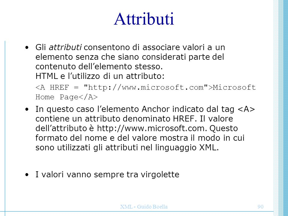 Attributi