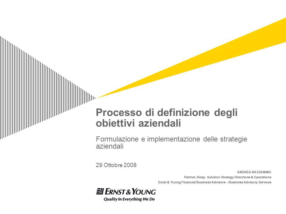 Processo di definizione degli obiettivi aziendali