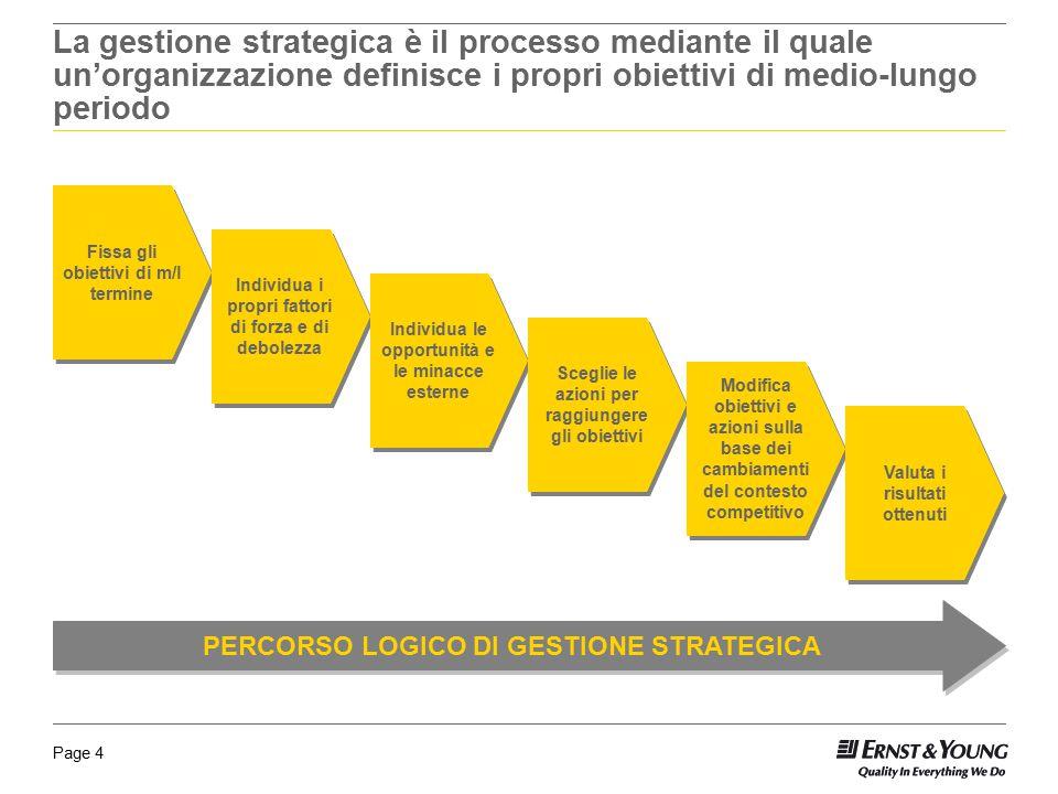 La gestione strategica è il processo mediante il quale un'organizzazione definisce i propri obiettivi di medio-lungo periodo