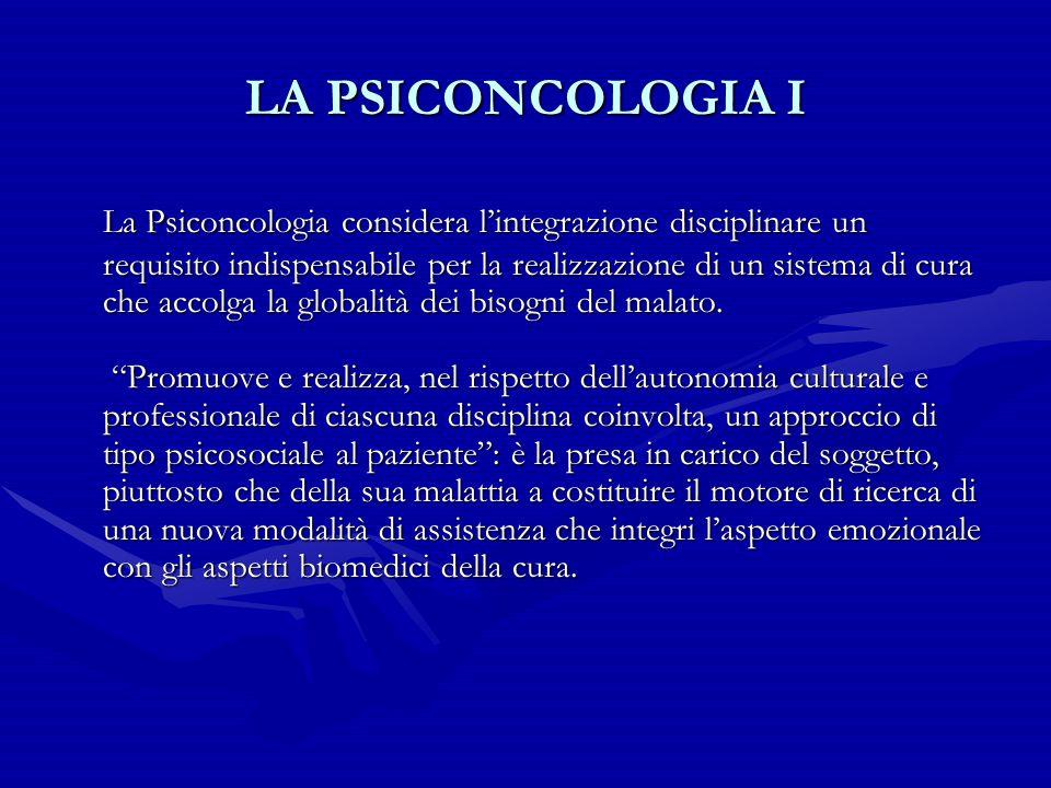 LA PSICONCOLOGIA I