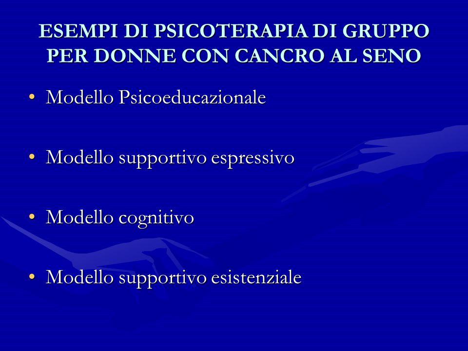 ESEMPI DI PSICOTERAPIA DI GRUPPO PER DONNE CON CANCRO AL SENO