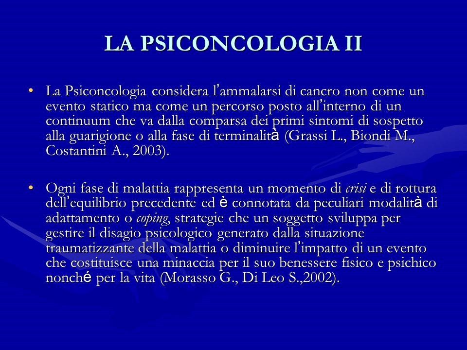 LA PSICONCOLOGIA II