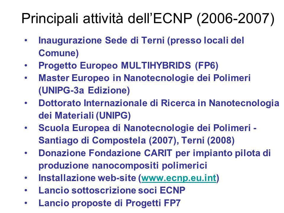 Principali attività dell'ECNP (2006-2007)