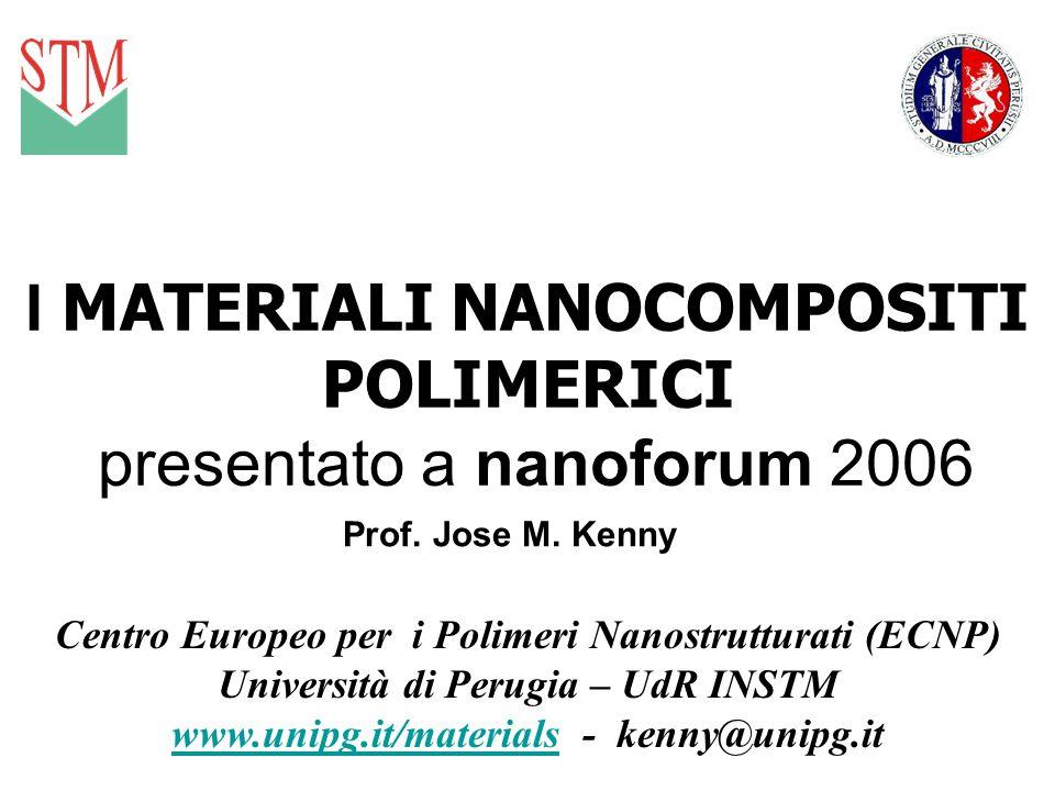 I MATERIALI NANOCOMPOSITI POLIMERICI presentato a nanoforum 2006