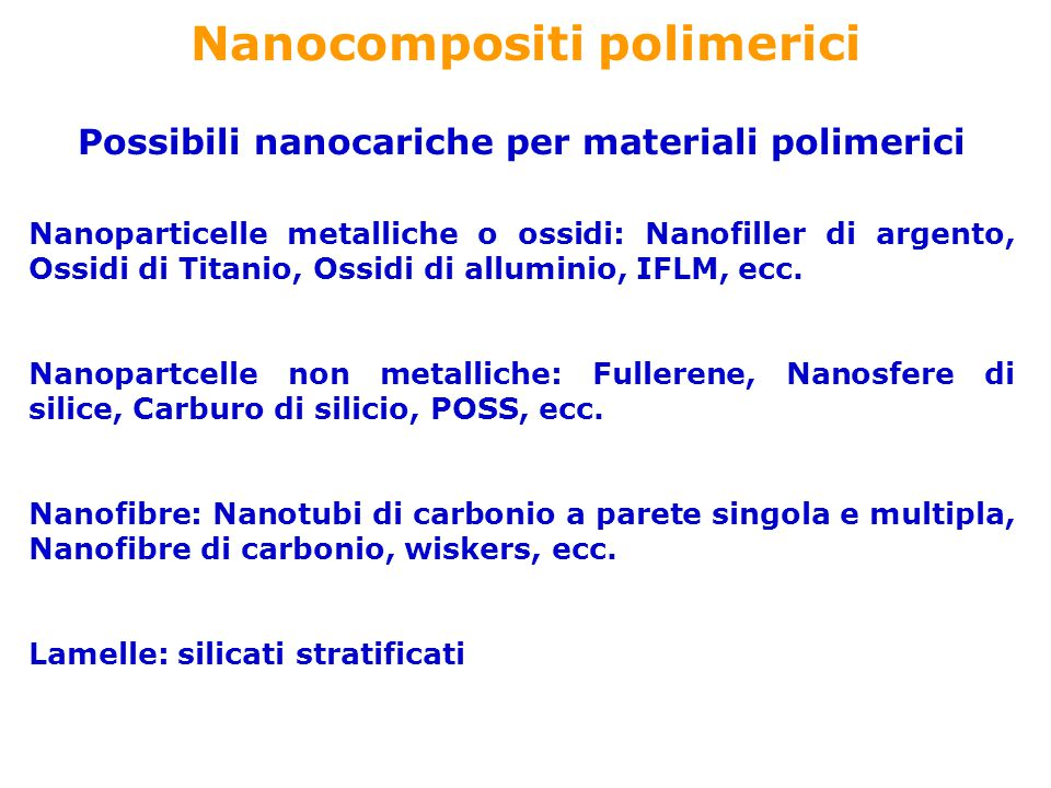 Nanocompositi polimerici