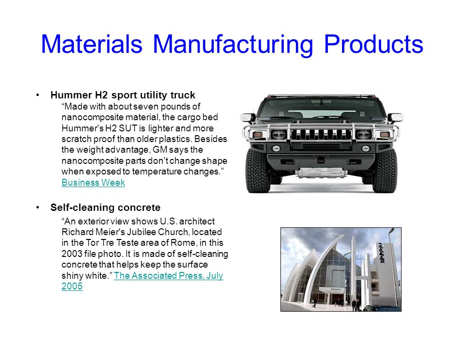 Materials Manufacturing Products