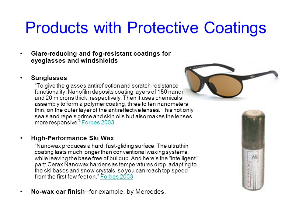 Products with Protective Coatings