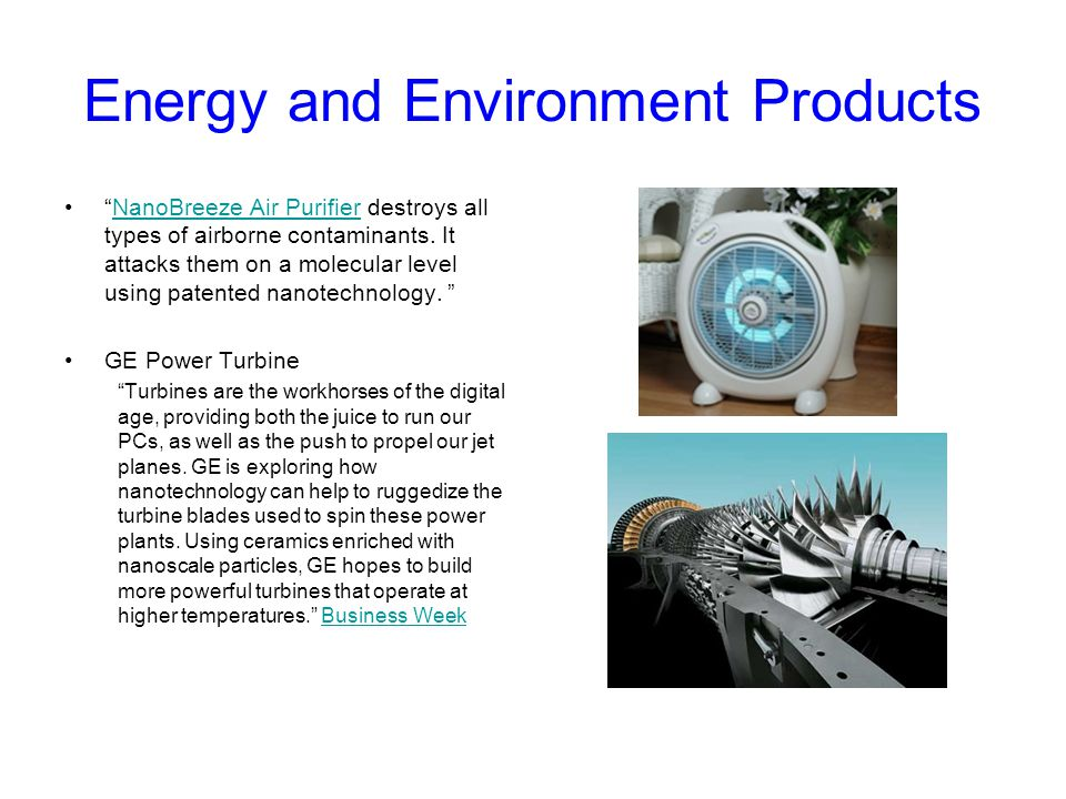 Energy and Environment Products
