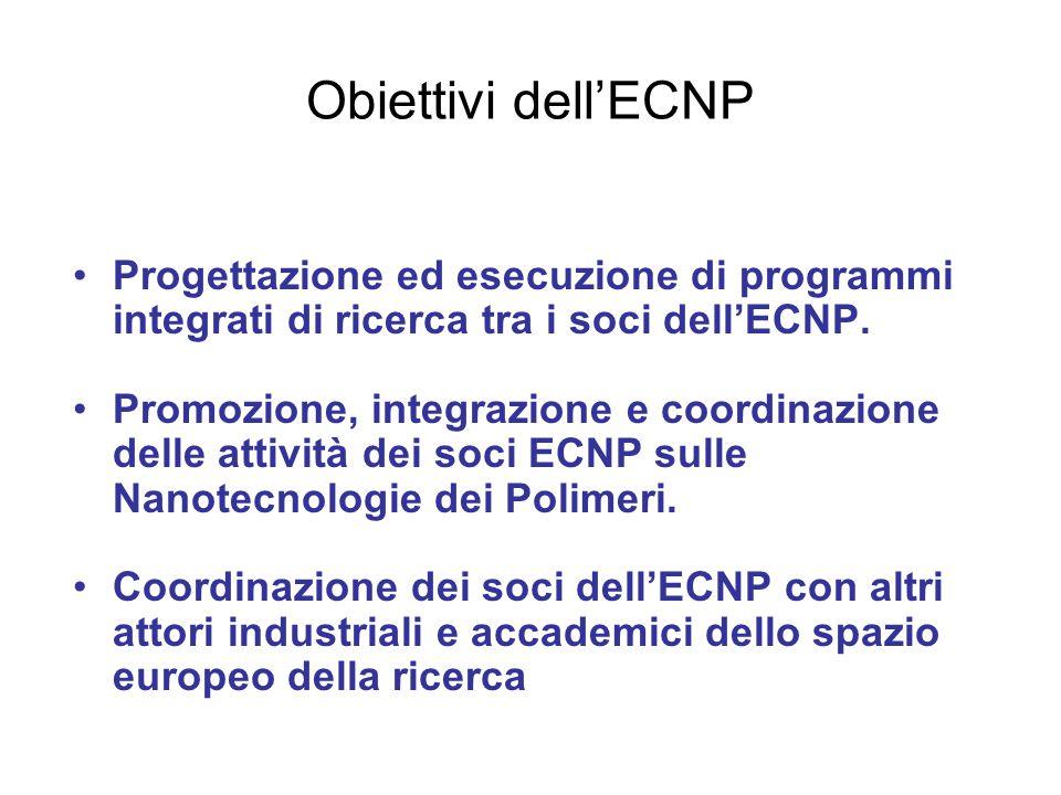 Obiettivi dell'ECNP Progettazione ed esecuzione di programmi integrati di ricerca tra i soci dell'ECNP.