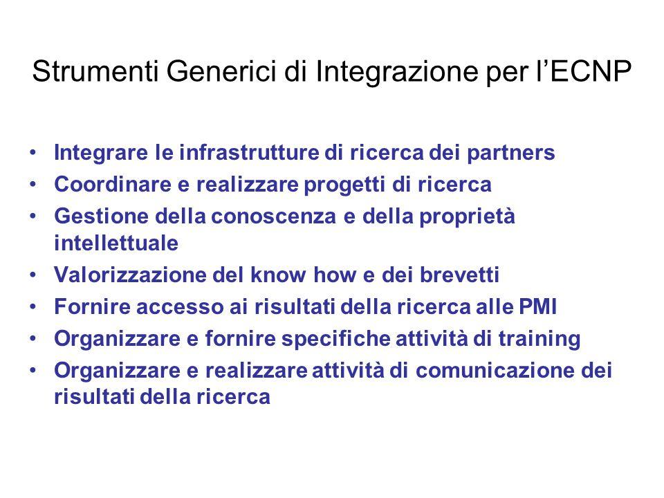 Strumenti Generici di Integrazione per l'ECNP