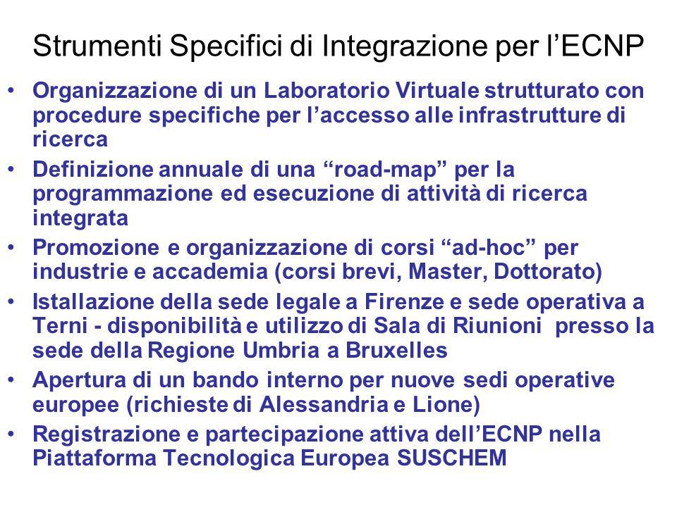 Strumenti Specifici di Integrazione per l'ECNP
