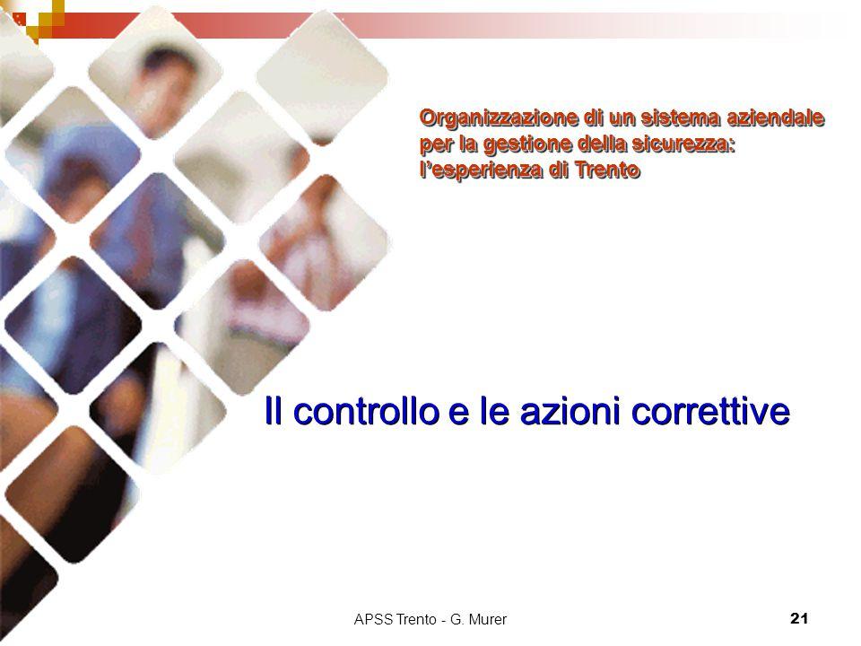 Il controllo e le azioni correttive