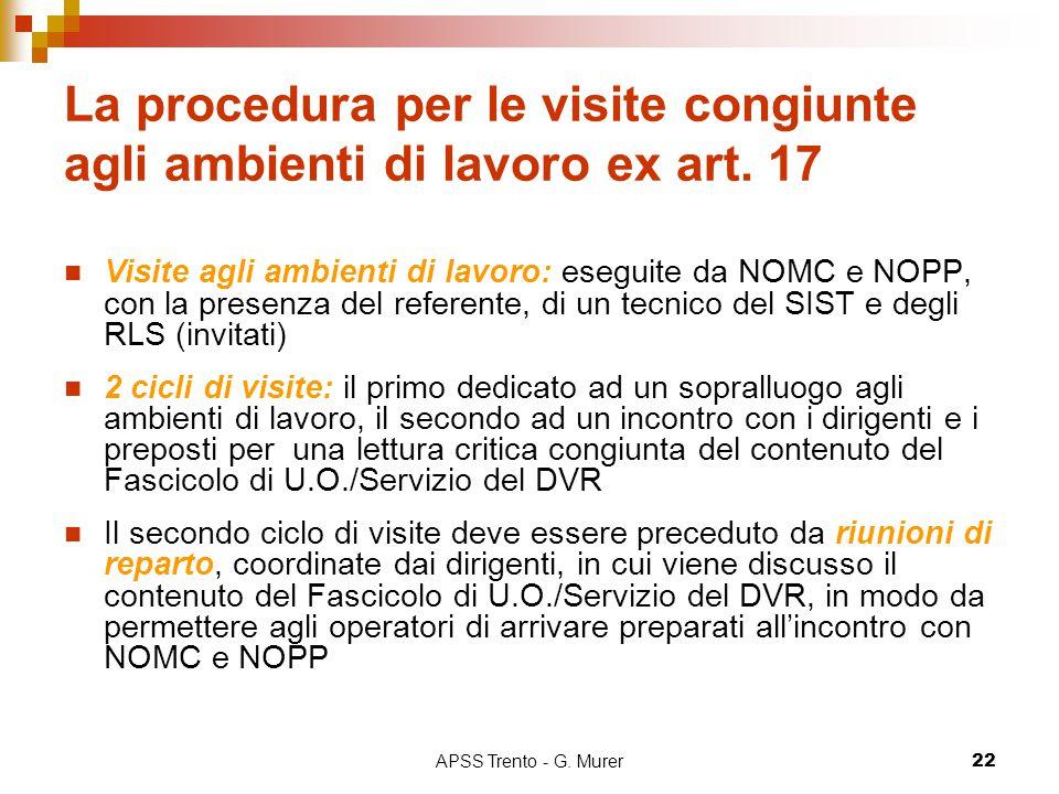 La procedura per le visite congiunte agli ambienti di lavoro ex art. 17