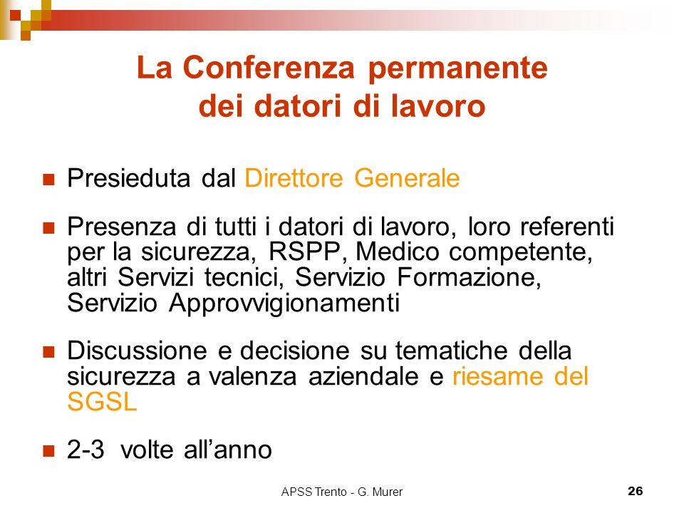 La Conferenza permanente dei datori di lavoro