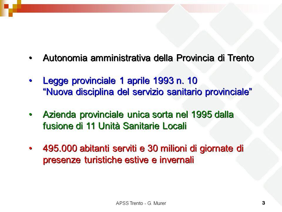 Autonomia amministrativa della Provincia di Trento